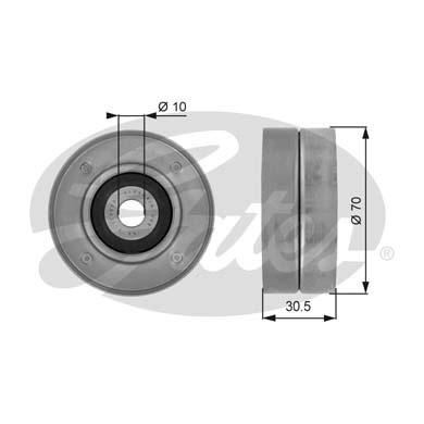 Slika GATES - T36046 - Usmeravajući/vodeći točkić, klinasti rebrasti kaiš (Kaišni prenos)
