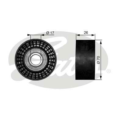 Slika GATES - T38018 - Usmeravajući/vodeći točkić, klinasti rebrasti kaiš (Kaišni prenos)