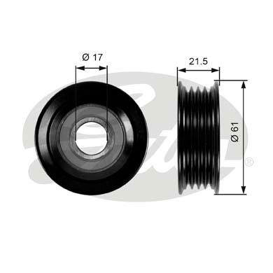 Slika GATES - T36055 - Usmeravajući/vodeći točkić, klinasti rebrasti kaiš (Kaišni prenos)