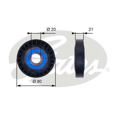Slika GATES - T36011 - Usmeravajući/vodeći točkić, klinasti rebrasti kaiš (Kaišni prenos)