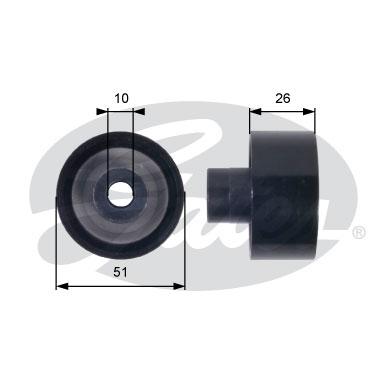 Slika GATES - T36090 - Usmeravajući/vodeći točkić, klinasti rebrasti kaiš (Kaišni prenos)
