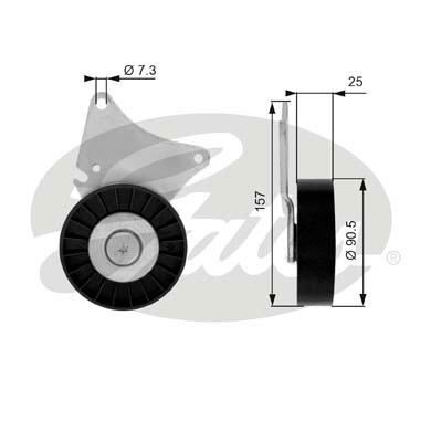 Slika GATES - T36030 - Usmeravajući/vodeći točkić, klinasti rebrasti kaiš (Kaišni prenos)