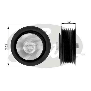 Slika GATES - T36079 - Usmeravajući/vodeći točkić, klinasti rebrasti kaiš (Kaišni prenos)