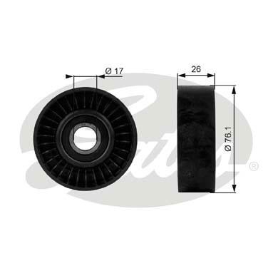 Slika GATES - T38015 - Usmeravajući/vodeći točkić, klinasti rebrasti kaiš (Kaišni prenos)