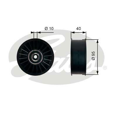 Slika GATES - T36500 - Usmeravajući/vodeći točkić, klinasti rebrasti kaiš (Kaišni prenos)
