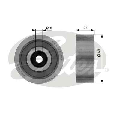 Slika GATES - T36040 - Usmeravajući/vodeći točkić, klinasti rebrasti kaiš (Kaišni prenos)