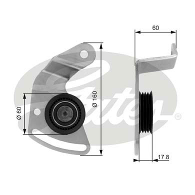 Slika GATES - T36018 - Zatezač, klinasti rebrasti kaiš (Kaišni prenos)