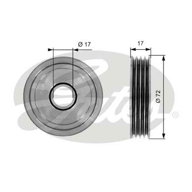 Slika GATES - T36054 - Zatezač, klinasti rebrasti kaiš (Kaišni prenos)