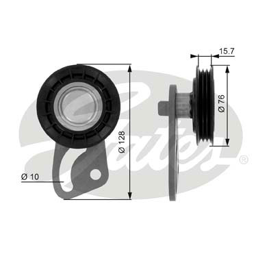 Slika GATES - T36073 - Zatezač, klinasti rebrasti kaiš (Kaišni prenos)