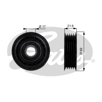 Slika GATES - T36189 - Usmeravajući/vodeći točkić, klinasti rebrasti kaiš (Kaišni prenos)
