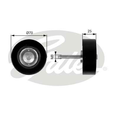 Slika GATES - T36263 - Usmeravajući/vodeći točkić, klinasti rebrasti kaiš (Kaišni prenos)
