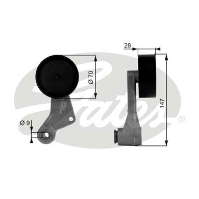 Slika GATES - T38065 - Zatezač, klinasti rebrasti kaiš (Kaišni prenos)