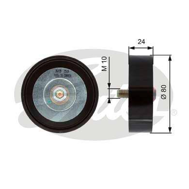 Slika GATES - T36039 - Usmeravajući/vodeći točkić, klinasti rebrasti kaiš (Kaišni prenos)