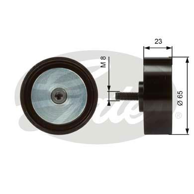 Slika GATES - T36082 - Usmeravajući/vodeći točkić, klinasti rebrasti kaiš (Kaišni prenos)