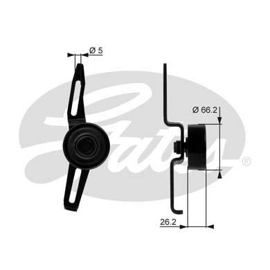 Slika GATES - T36066 - Zatezač, klinasti rebrasti kaiš (Kaišni prenos)