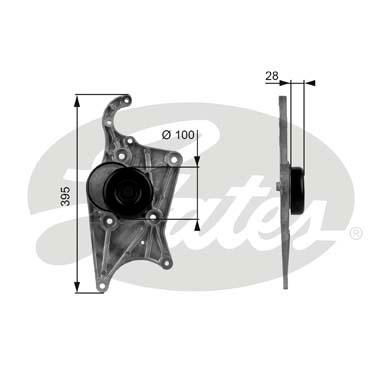 Slika GATES - T38109 - Zatezač, klinasti rebrasti kaiš (Kaišni prenos)