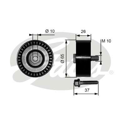 Slika GATES - T36300 - Usmeravajući/vodeći točkić, klinasti rebrasti kaiš (Kaišni prenos)