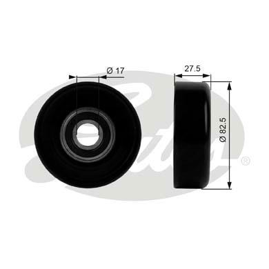 Slika GATES - T38011 - Usmeravajući/vodeći točkić, klinasti rebrasti kaiš (Kaišni prenos)