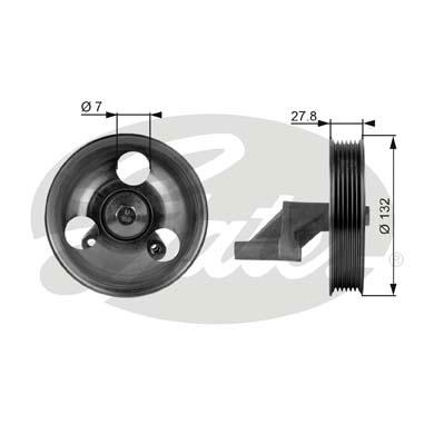 Slika GATES - T36109 - Usmeravajući/vodeći točkić, klinasti rebrasti kaiš (Kaišni prenos)