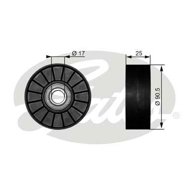 Slika GATES - T38007 - Usmeravajući/vodeći točkić, klinasti rebrasti kaiš (Kaišni prenos)