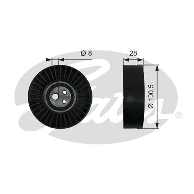 Slika GATES - T36003 - Zatezač, klinasti rebrasti kaiš (Kaišni prenos)