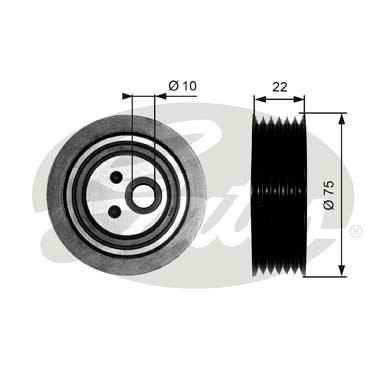 Slika GATES - T36050 - Zatezač, klinasti rebrasti kaiš (Kaišni prenos)