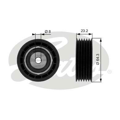 Slika GATES - T38083 - Usmeravajući/vodeći točkić, klinasti rebrasti kaiš (Kaišni prenos)