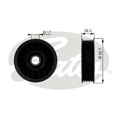 Slika GATES - T38019 - Usmeravajući/vodeći točkić, klinasti rebrasti kaiš (Kaišni prenos)
