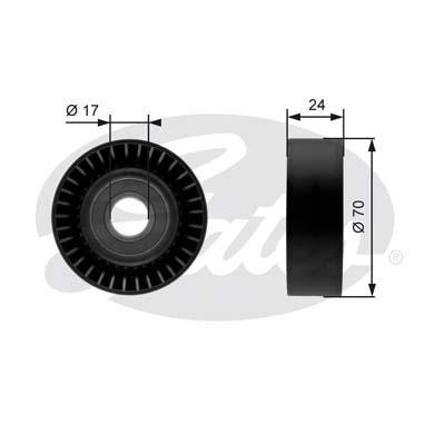 Slika GATES - T36215 - Usmeravajući/vodeći točkić, klinasti rebrasti kaiš (Kaišni prenos)