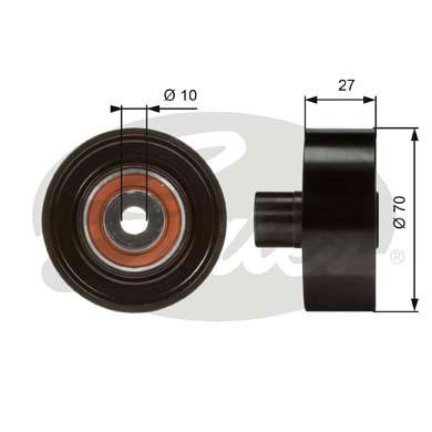 Slika GATES - T36051 - Usmeravajući/vodeći točkić, klinasti rebrasti kaiš (Kaišni prenos)