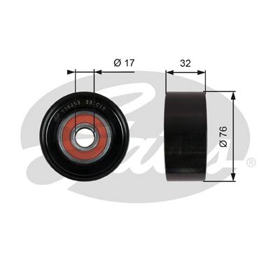 Slika GATES - T36253 - Usmeravajući/vodeći točkić, klinasti rebrasti kaiš (Kaišni prenos)