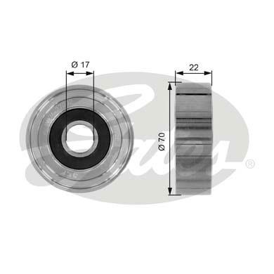 Slika GATES - T36053 - Usmeravajući/vodeći točkić, klinasti rebrasti kaiš (Kaišni prenos)