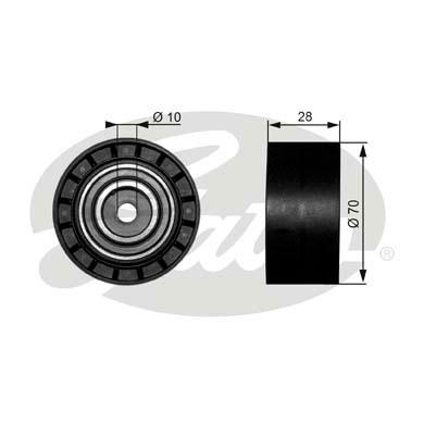 Slika GATES - T38073 - Usmeravajući/vodeći točkić, klinasti rebrasti kaiš (Kaišni prenos)