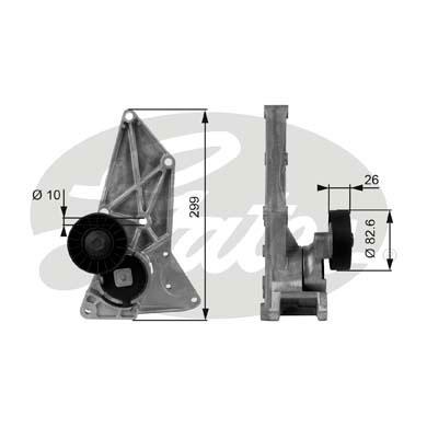 Slika GATES - T38126 - Zatezač, klinasti rebrasti kaiš (Kaišni prenos)