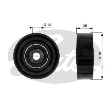 Slika GATES - T36019 - Usmeravajući/vodeći točkić, klinasti rebrasti kaiš (Kaišni prenos)