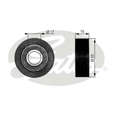 Slika GATES - T38025 - Usmeravajući/vodeći točkić, klinasti rebrasti kaiš (Kaišni prenos)