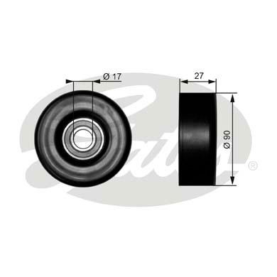 Slika GATES - T38010 - Usmeravajući/vodeći točkić, klinasti rebrasti kaiš (Kaišni prenos)
