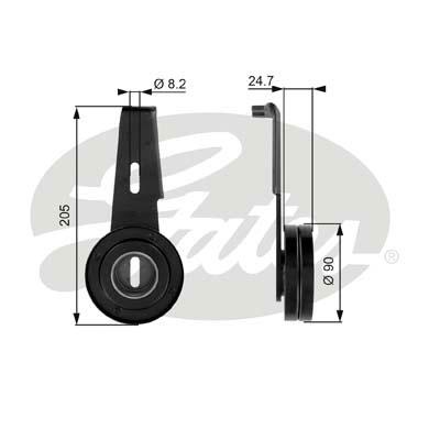 Slika GATES - T36061 - Zatezač, klinasti rebrasti kaiš (Kaišni prenos)
