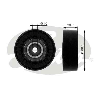 Slika GATES - T36004 - Usmeravajući/vodeći točkić, klinasti rebrasti kaiš (Kaišni prenos)