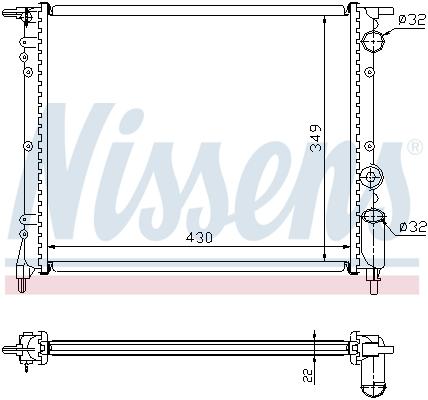 Slika NISSENS - 63919 - Hladnjak, hlađenje motora (Hlađenje)