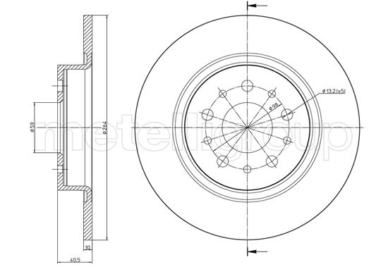 Slika METELLI - 23-1506C - Kočioni disk (Kočioni uređaj)