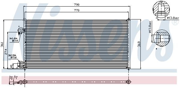 Slika NISSENS - 94664 - Kondenzator, klima-uređaj (Klima-uređaj)