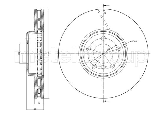 Slika METELLI - 23-1328C - Kočioni disk (Kočioni uređaj)
