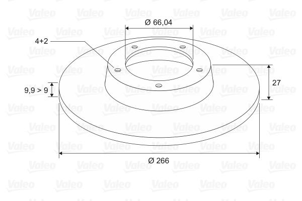 Slika VALEO - 186134 - Kočioni disk (Kočioni uređaj)
