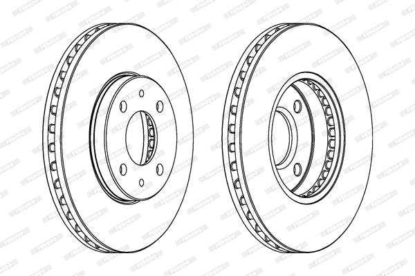 Slika FERODO - DDF716 - Kočioni disk (Kočioni uređaj)