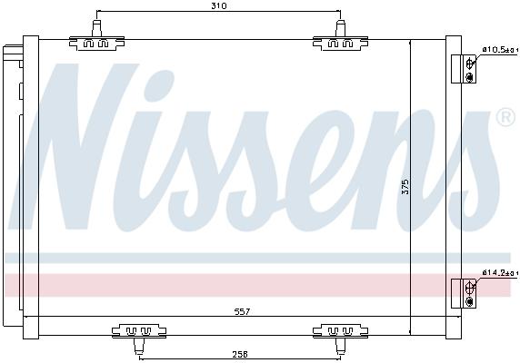 Slika NISSENS - 940055 - Kondenzator, klima-uređaj (Klima-uređaj)