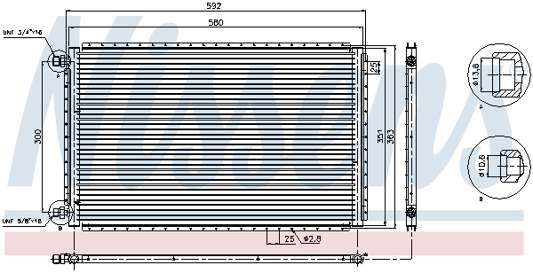 Slika NISSENS - 94959 - Kondenzator, klima-uređaj (Klima-uređaj)