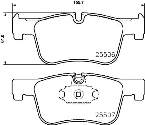 Slika HELLA PAGID - 8DB 355 019-771 - Komplet pločica, disk-kočnica (Kočioni uređaj)