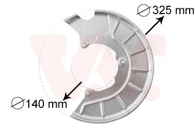 Slika VAN WEZEL - 7622371 - Lim za zaštitu od prskanja, kočioni disk (Kočioni uređaj)