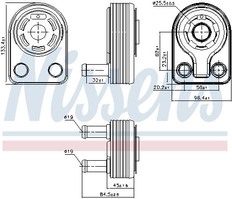 Slika NISSENS - 90971 - Uljni hladnjak, ulje za motor (Podmazivanje)